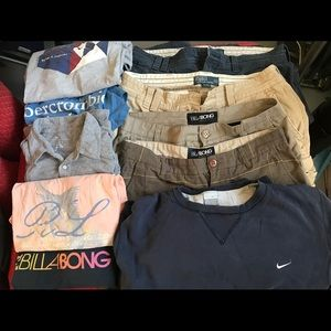 Billabong & Polo shorts & t's. Priced to sell!